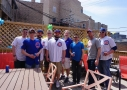 Chicago Cubs fans love hanging out on our deck before the big baseball game!