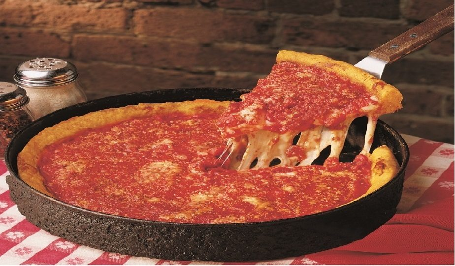 Famous Chicago Deep Dish Pizza
