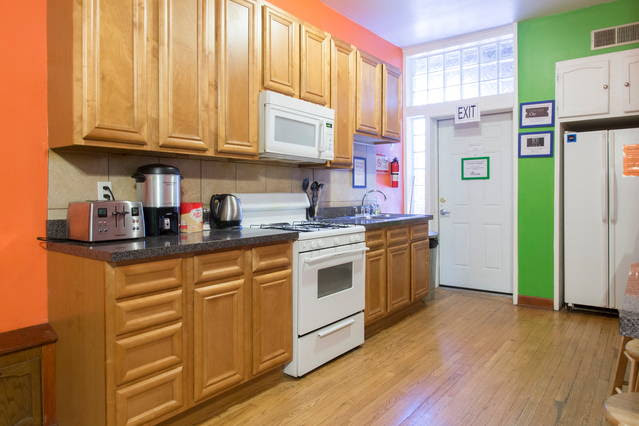 Wrigley Hostel's Kitchen with great amenities!