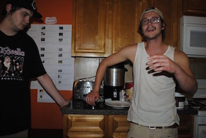 These two brothers had too much fun with the hostel waffle iron...