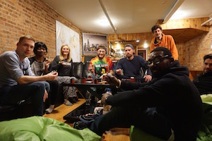 We host game night every tuesday at Wrigley Hostel