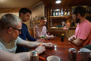 Wrigley Hostel in Chicago loves playing games in the BYOB bar.