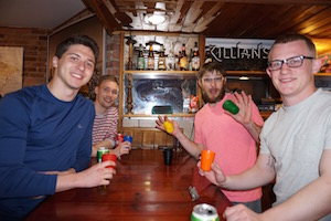 Wrigley Hostel guests love playing games in our bar!