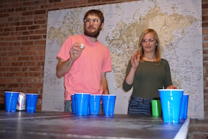 Our guests love playing beer pong in our common room