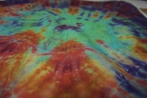 The tie dye winner of Wrigley Hostel