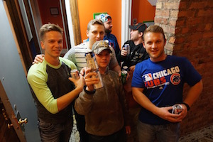Party time in Chicago at Wrigley Hostel!