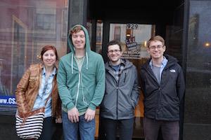 Comedy sportz event night in Chicago with Wrigley Hostel staff member, KIM.