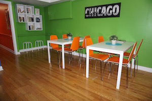 Wrigley Hostel has a quiet room perfect for getting work done!