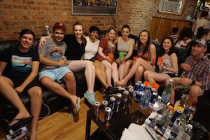 Wrigley Hostel loves hosting all the partying Irish in may and june!