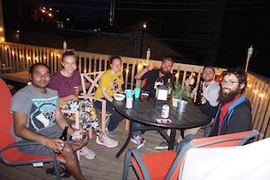 Wrigley hostel has an awesome outdoor lounge perfect for a party or relaxing