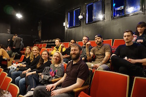 Our staff took a hostel group to a comedy show in Chicago!