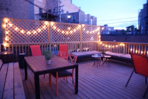 Our outdoor deck is newly renovated and ready for a party!