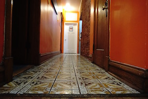 Check out our long historic Chicago hallways at the hostel!
