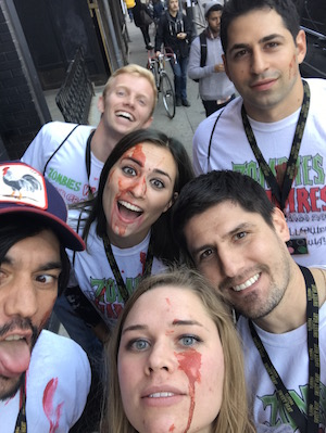 Say hello to your perfect group of hostel Zombies!