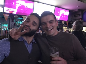 Gustavo and Torsten are good friends out at the bar!