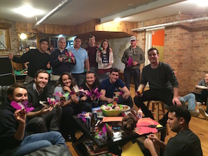 Thanksgiving crafting and dinner at Wrigley Hostel in Chicago!