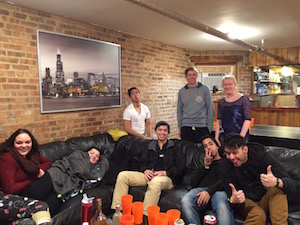 We love the couch at wrigley hostel in chicago!