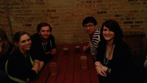Bar Crawl time at wrigley hostel in Chicago!