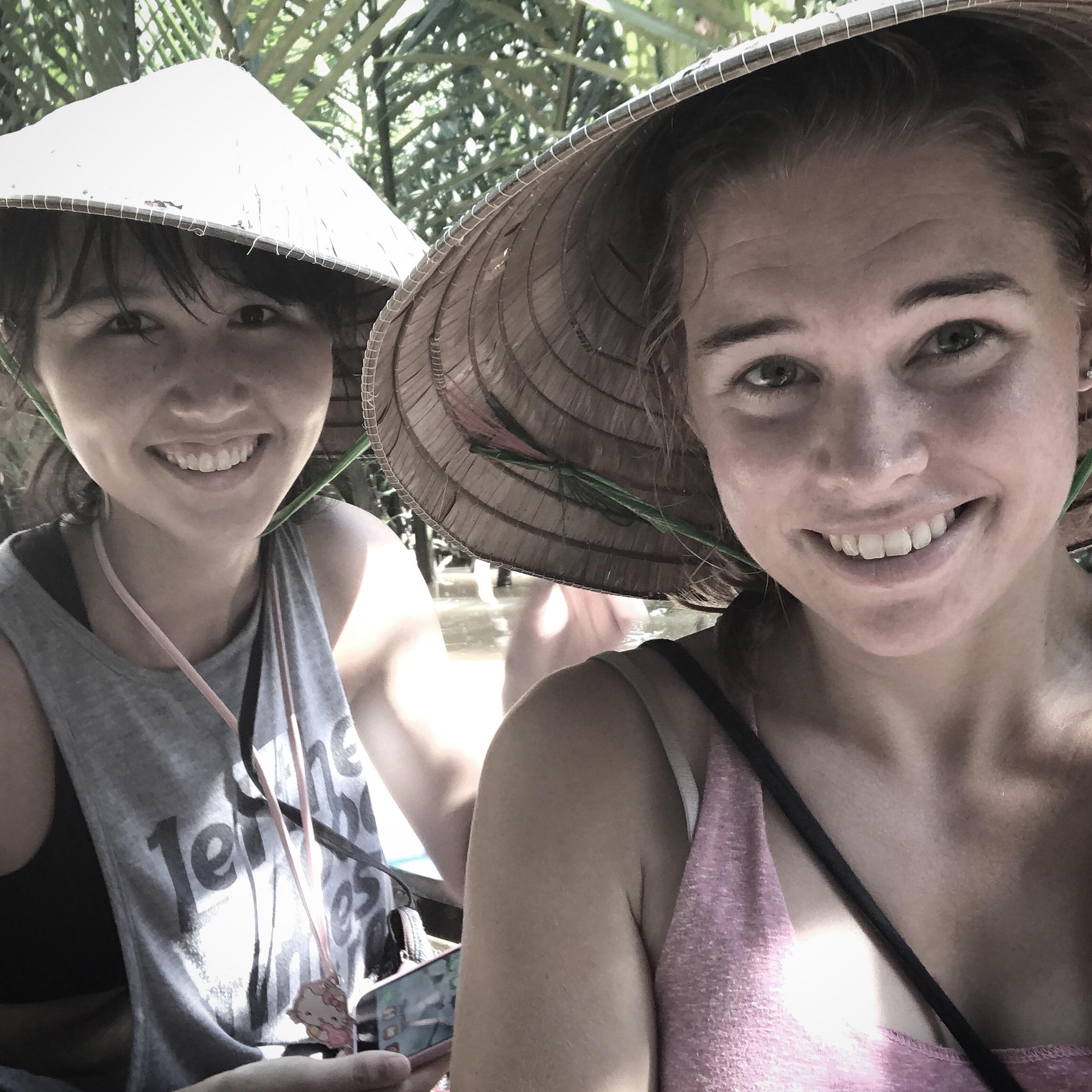 Ida and Elizabeth on the Mekong